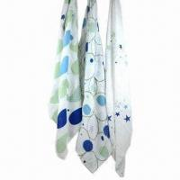 China 3-pack swaddle muslin baby blankets, made of 100% cotton or 100% organic cotton wholesale