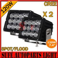 China High Power7.4 INCH 120W CREE LED DRIVING LIGHT 4X4 FOG LIGHT OFFROAD MACHINERY 4WD ATV SUV on sale