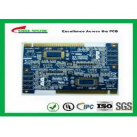 China 2 Layer PCB Board Immersion gold + plating gold fingers Blue solder mask wholesale