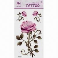 China Body Tattoo Stickers, Available in Various Patterns and Sizes wholesale