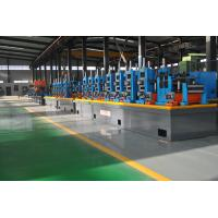 China Automatic Diameter 13-50 x 0.6-2 mm steel plate ERW pipe mill line workshop machine to make square tube on sale