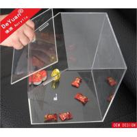 China Large Clear 3mm Thick Custom Acrylic Storage Container Box Products on sale