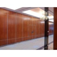 China Office Sound Proof Partition Wall , Melamine Surface Sliding Folding Acoustic Room Dividers on sale