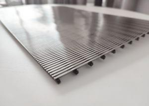 China Stainless Steel 304 2m Length Wedge Wire Screen 1.5mm Slot wholesale