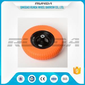 China Diamond  Pattern PU Foam Wheel 90mm Hub Length 150kg Load For Wheelbarrows wholesale