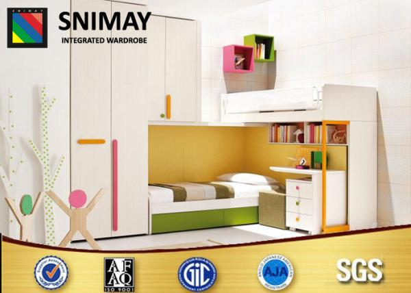 Quality Space Saving Bunk Beds Childrens Bedroom Furniture Sets , White for sale