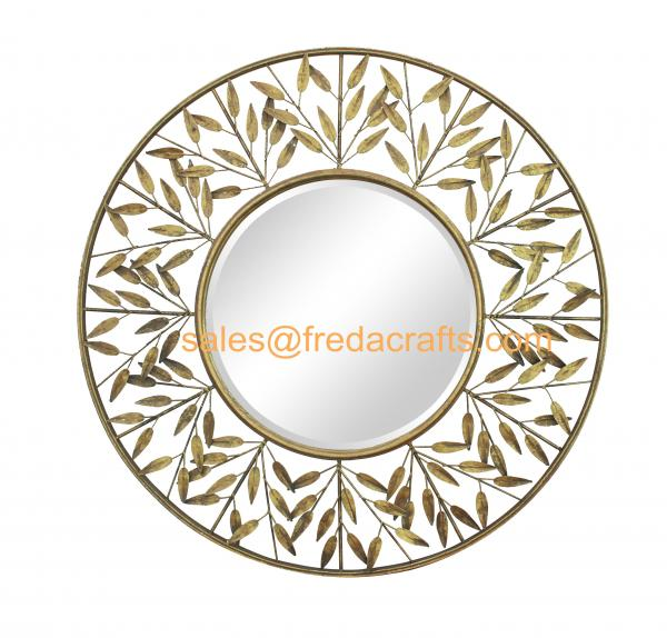 Metal leaves wall decor images for Mirror 84 x 36