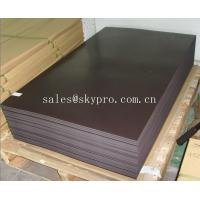 China 0.2-10mm thick black self adhesive magnetic rubber sheet Smooth Surface wholesale