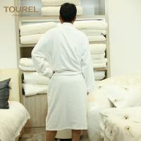 China 100% Cotton White Hotel Terry Cloth Bathrobe With 125cm Weight 1000g on sale