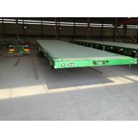 China three or two axles bpw brand flatbed container trailer with one tool box wholesale
