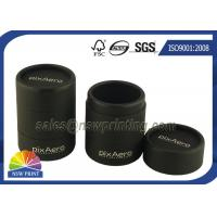 China Personalized 3 Pieces Black Rigid Paper Cans Packaging Fancy Cylinder Gift Boxes wholesale