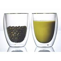 China Double Wall Personalized Glass Cup / Custom Made Glass Cups OEM Service wholesale