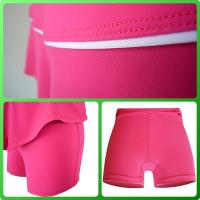 China Fashionable Rose Denim Tennis Wear Girls Tennis Shorts with pockets on sale