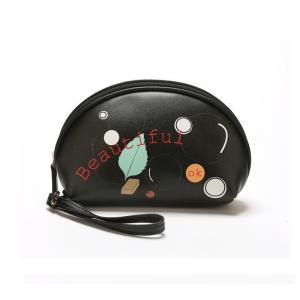 China Simple Black L20*D7*H12 Cm PU Cosmetic Bag For Ladies wholesale