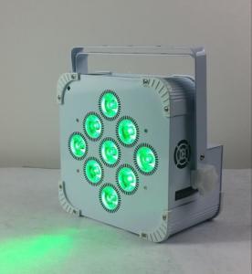 China 180W 9 LED Wireless Battery Flat Par Light , Battery Powered Led Stage Light wholesale