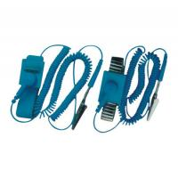 China Professional Electrical Equipment ESD Wrist Strap With Wire , Rubber And Alloy Material wholesale