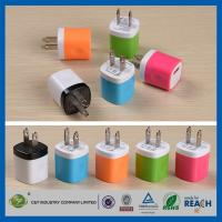 China USB Travel Home 1.0 Amp Power Adapter Wall Charger Plug For Iphone 6 / 6 Plus 5s Samsung wholesale