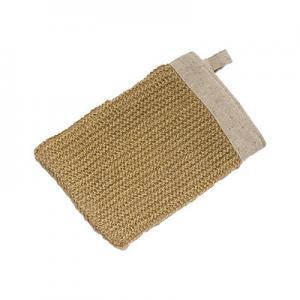 Buy cheap Le chanvre de lavage de corps s'exfoliant des gants de Bath effacent rapidement from wholesalers