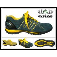 China Men's sport safety shoes work shoes with steel toe for women and men black wholesale