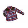 Fathion Red, Black, Green Lapel 4 - 15 Year Kids Plaid Shirts, check printing shirts