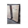 China Lados do suporte de exposição dois de Slatwall do quadro do metal 1200 * 450 * 1380MM multi - Funcutional wholesale