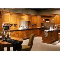 China Coffe Color Traditional Kitchen Cabinets With Quartz Countertops Solid Wood wholesale