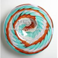 China Hand Blown Art Glass Table Platter Plate Wall Hanging Mount on sale