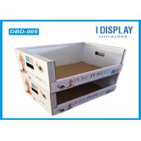 China Colorful Retail Cardboard Dump Bins Display With Two Layers Structure wholesale