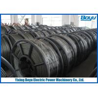 China 15mm Line Stringing Flexible Pilot Steel Wire Rope , Braided Steel Wire Rope wholesale