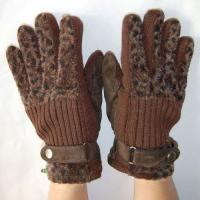 China Cow Grain Leather Glove With Cotton Lined For Working wholesale