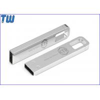 China Solid Full Metal Buckle Pen Drive Laser Engraved Logo 16GB Thumb Drive on sale