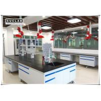 China C Frame Steel Stucture Lab Island Bench With Ceramic Countertop and Reagent Shelves wholesale