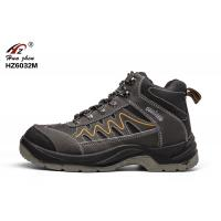 China PU / Rubber Sole Leather  Safety Shoes High Ankle Breathable With Steel Toe wholesale