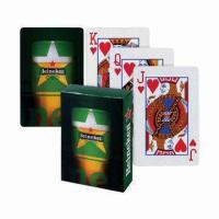 China Paper Playing Cards, Plastic-coated, Full-color Printed, 300gsm Paper wholesale