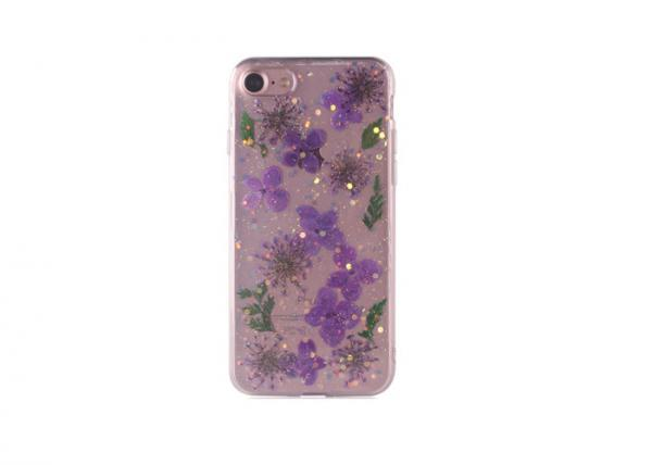 Quality Purple Lavender IPhone Cell Phone Wallet Case Tpu Material For Men / Women for sale
