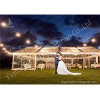 China Out side Grassland Clear Top Luxury Wedding Tents High Pressed Aluminum String Lights wholesale