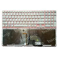 China Sony Vaio SVE151 US Laptop Keyboard Layout , LED Backlight Keyboard With Pink Frame on sale