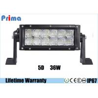 "China 6000K LED Offroad Light Bar , 5D Reflector 7.5"" Flood Beam 36W LED Light Bar  wholesale"