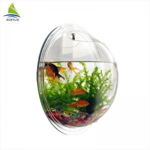 China Modern Acrylic Shop Display Customized Wall Mounted Clear Round Acrylic Fish Tank wholesale