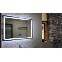 China Hotel Smart LED Bathroom Mirror With Radio Wall Hanging Square Frameless Vanity Mirror wholesale