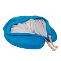 China Hooded Memory Foam Neck Pillow U Hoody Travel Cushion With Carrying Case wholesale