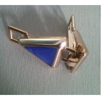 China Fashion blue and gold ABS Cloth Belt Buckle , 7cm cool belt buckles wholesale