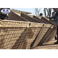Hot Dipped Galvanized Hesco Bastion Wall / Welded Wire Gabion Baskets