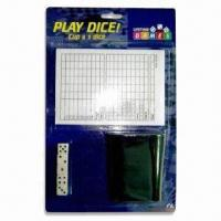 China Dice Cup Set, Includes Dice, Dice Cup and Writing Pad, 10 x 14cm Writing Pad wholesale