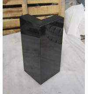 China Absolute black granite Ash shape cube wholesale