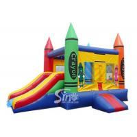 China Best seller colorful crayon house kids inflatable combo game made of 18 OZ. pvc tarpaulin for outdoor use wholesale