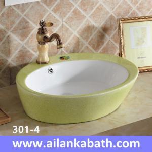 China 2016 new model fashion blue white color basin sanitary ware colorful art basin for bathroom wholesale