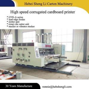 China Efficient Cardboard Box Printing Machine Easy Operation L5500*W4500*H2500mm wholesale