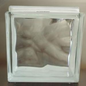 bloc en verre clair nuageux de 190X190X80mm pour le mur décoratif