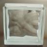 China bloc en verre clair nuageux de 190X190X80mm à vendre wholesale